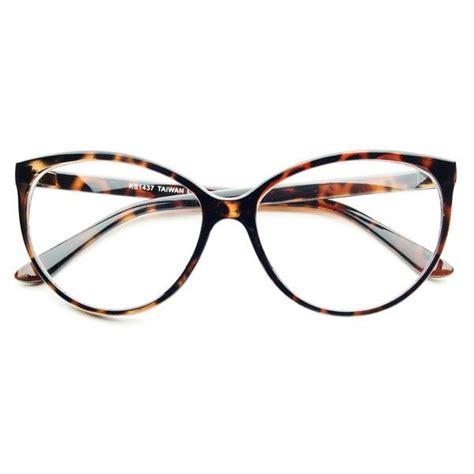 large clear lens retro vintage fashion cat eye eye glasses