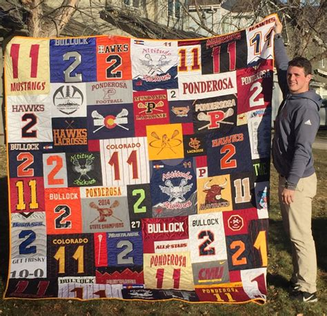 Quilts Made From Sports Jerseys by Types Of T Shirt Quilts Minnesota T Shirt Quilts