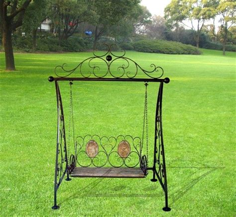 wrought iron swings black iron double rocking chair iron outdoor swing chair