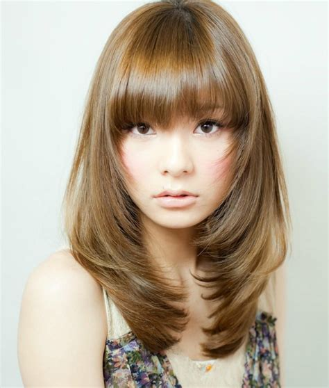 Korean Medium Hairstyles by Korean Medium Hairstyles For Www Pixshark