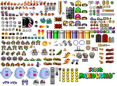 the sprites of life a super mario world project sprite sheets