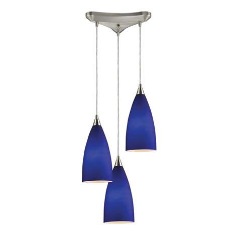 Blue Glass Pendant Light Modern Multi Light Pendant Light With Blue Glass And 3 Lights 2581 3 Destination Lighting