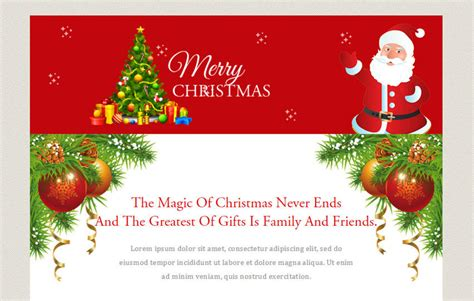 merry christmas  newsletter responsive web template wlayouts