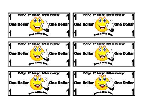school bucks template play money printable for the