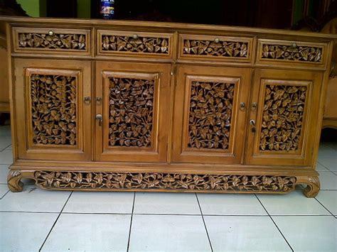 Lemari Ukiran Palembang bufet palembang ukiran kayu jati jepara jual mebel