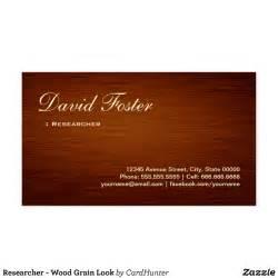 wood grain business cards researcher wood grain look business card zazzle