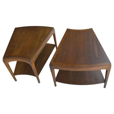 Wedge Shaped End Tables by Pair Of Wedge Shaped The Wave Two Tier Side Tables For