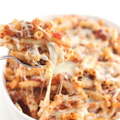 baked ziti recipe main dishes with noodles marinara sauce