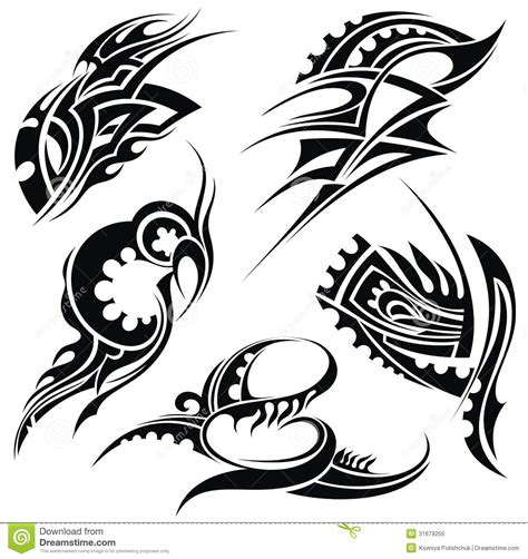 vector tattoo designs design elements tribal stock vector illustration of