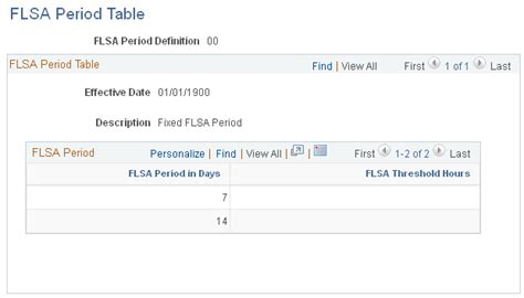 Flsa Section 7 by Setting Up For Flsa Calculation