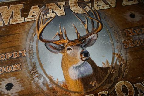 Deer Hunting Home Decor by Man Cave Hunters Only Deer Buck Hunting Cabin Home Decor