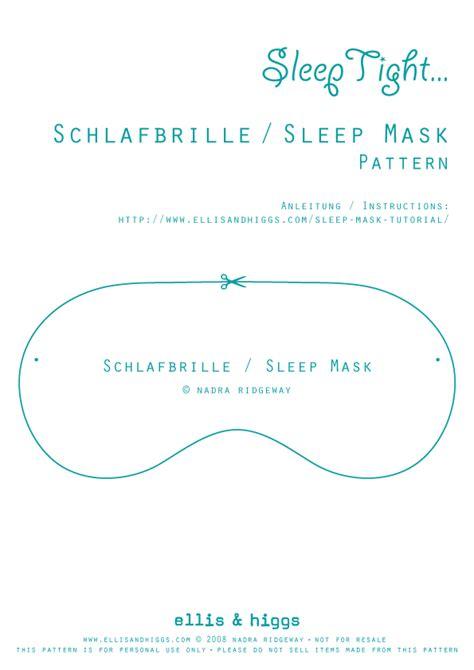 design pattern hibernate schlafbrille sleep mask tutorial fabric designs by