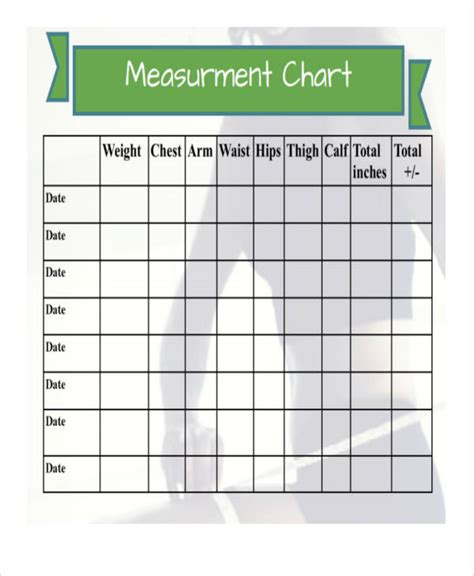 Measurement Chart Templates 9 Free Sle Exle Format Download Free Premium Templates Free Size Chart Template