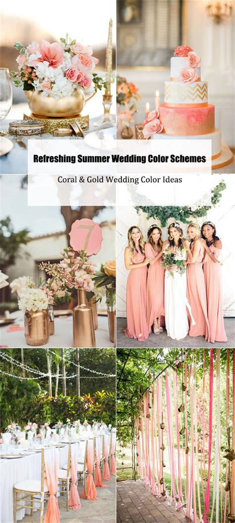 summer wedding color schemes 20 refreshing summer wedding color schemes