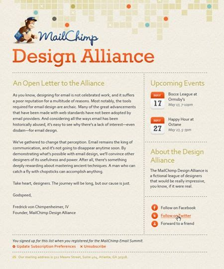 newsletter template mailchimp mailchimp newsletter web designs
