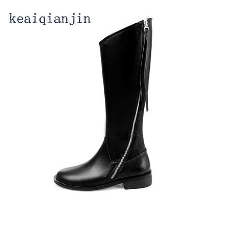 Sepatu Boot Panjang sepatu bot kulit panjang hitam beli murah sepatu bot kulit