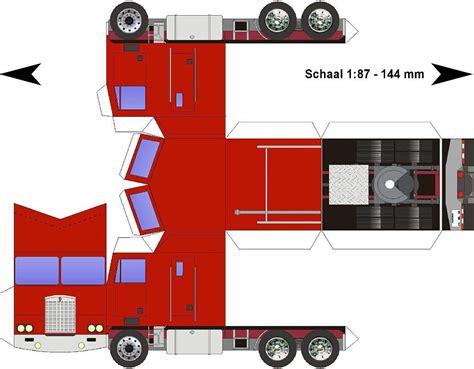 paper truck kenworth free paper model trucks kenworth k100 cabover