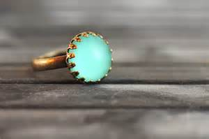 green mood little mint green mood ring handmade ring statement ring