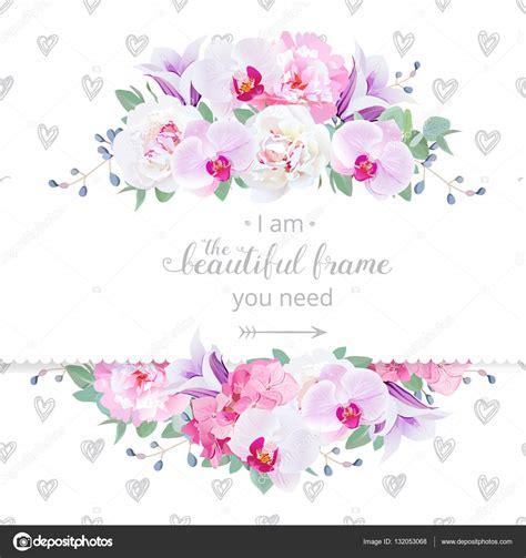 cornici fiori vector floral design orizzontale carta di nozze cornice