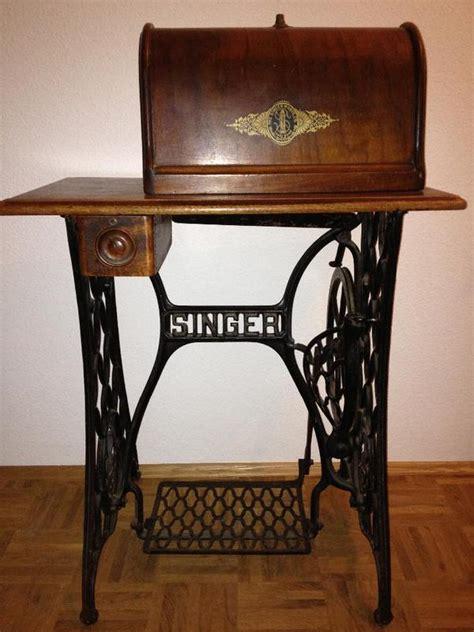 antike singer nähmaschine antike singer n 228 hmaschine mit tisch und haube voll