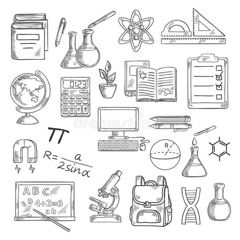 price plan concept free sketch freebie supply school supplies sketches for education design stock vector