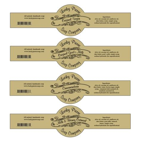 Free Soap Labels To Print