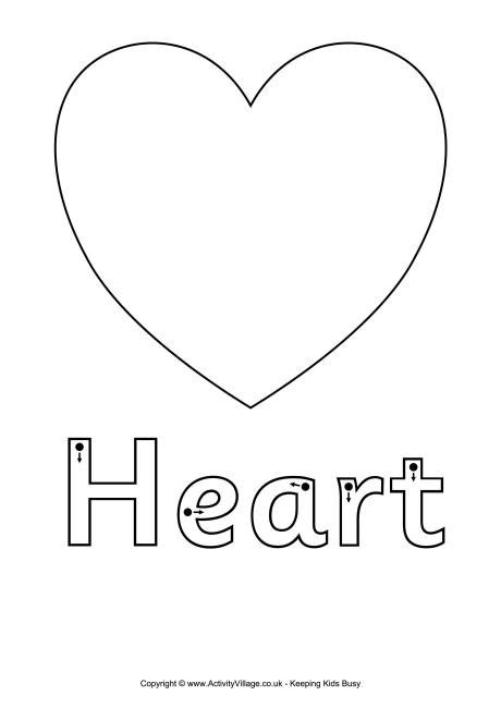 heart coloring pages preschool finger tracing heart worksheet valentine s day for kids