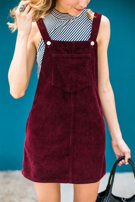 Overall Skirt By Jlty Fashion cord pinafore dress style