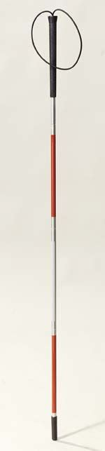 Blind Cane Color Deluxe Folding Blind Cane With Wrist Strap By Drive Medical