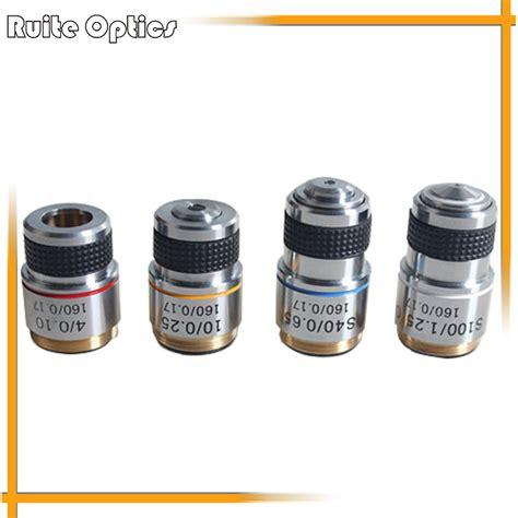 Pocket Stereoscope 4x set of 185 composite achromatic objective lens 4x 10x 40x 100x biological microscope