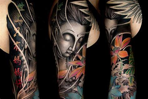 full sleeve japanese buddha tattoo design tattooshunt com