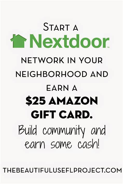 Earn A Gift Card - start a nextdoor network in your neighborhood and earn a
