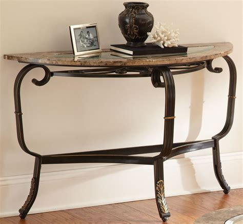 Marble Sofa Table Gallinari Brown Marble Sofa Table From Steve Silver