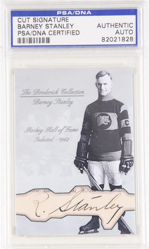 stanley barney barney stanley autographed card the broderick collection