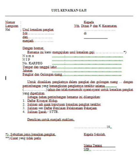 contoh surat usul kenaikan gaji pegawai docx contoh