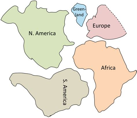 printable shapes of the continents cadillac pangea continent