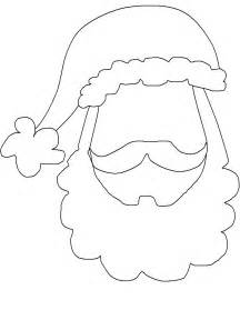 Santa Beard Template by Santa Template Printable