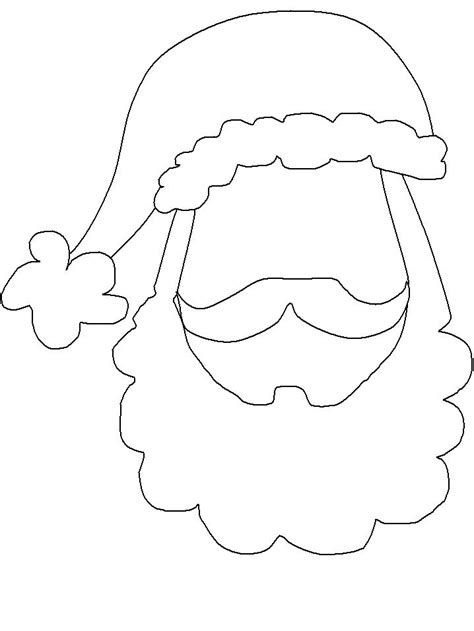 printable santa face santa face template printable pinterest homemade
