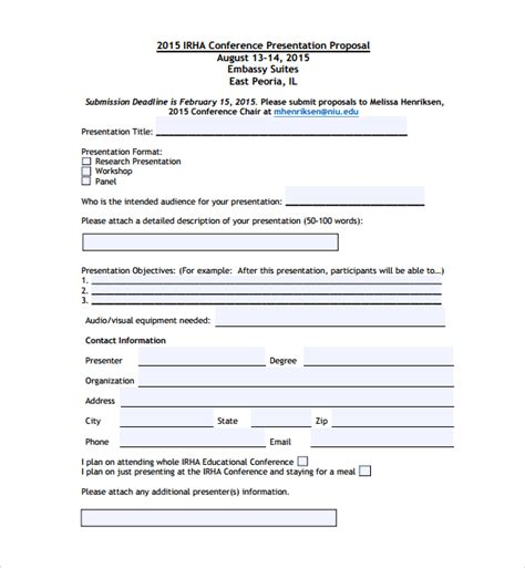sle conference proposal template 14 free documents