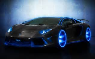 lamborghini aventador manipulation cg digital neon blue supercar wheels