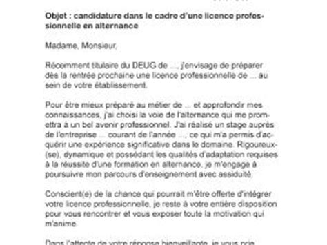 lettre de motivation licence pro alternance par lettreutile