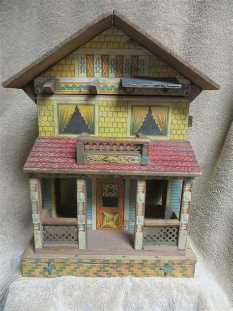 nice doll houses antique bliss doll house 2 storey with porch paper litho
