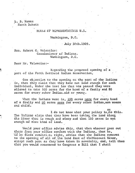 Reservation Change Letter Section 5 Opening The Reservation Dakota Studies