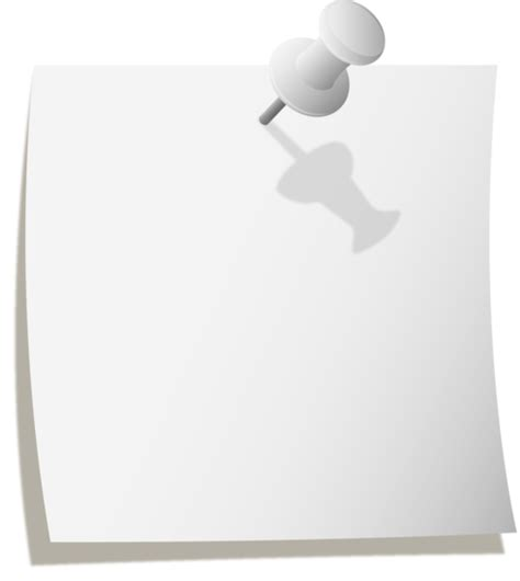White Paper Clipart 48 Thumbtack Template