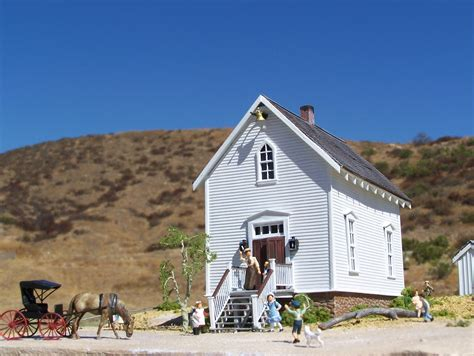 House On The Prarie by Mike Cozart Design And Model Walnut Grove School House Model From House On The Prairie