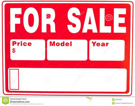 doc 500263 car for sale sign bizdoska com