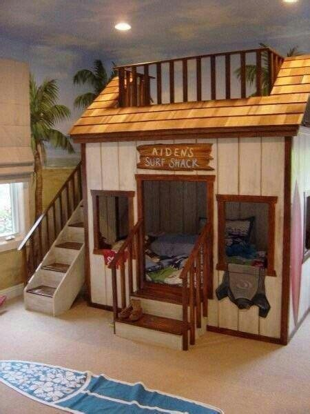 awesome bunkbeds awesome bunk bed idea surf shack hot tub rec room pinterest awesome bunk beds and surf
