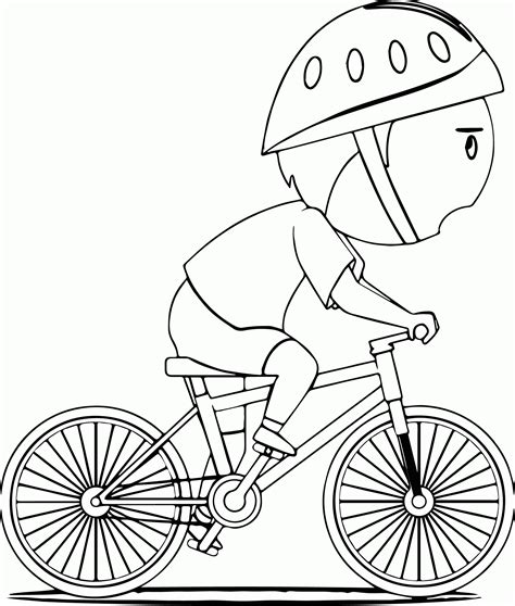 bike coloring page coloring home