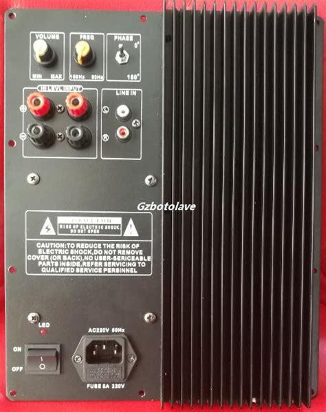 subwoofer amplifier board  pass filter subwoofer