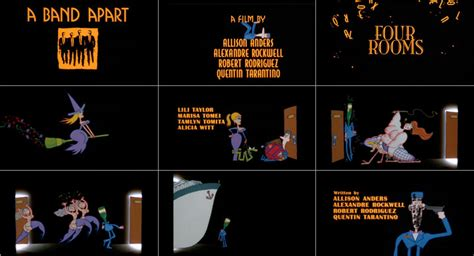 quentin tarantino film titles four rooms title sequence watch the titles